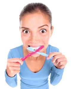 girl brushing teeth in Rutherford Dental